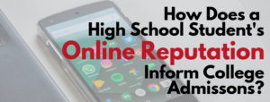 High School Student's Online Reputation